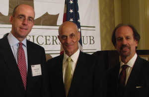 Former Secretary of DHS Michael Chertoff with Andy Maner (left) and Greg Baroni (right)