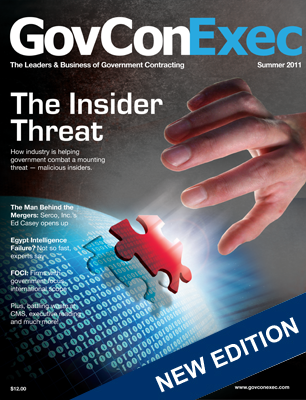GovConExec Magazine's Summer Issue Highlights Insider Threat - top government contractors - best government contracting event
