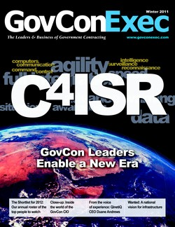 GovConExec Highlights the New C4ISR, Who to Watch in 2012 in New Winter Issue - top government contractors - best government contracting event