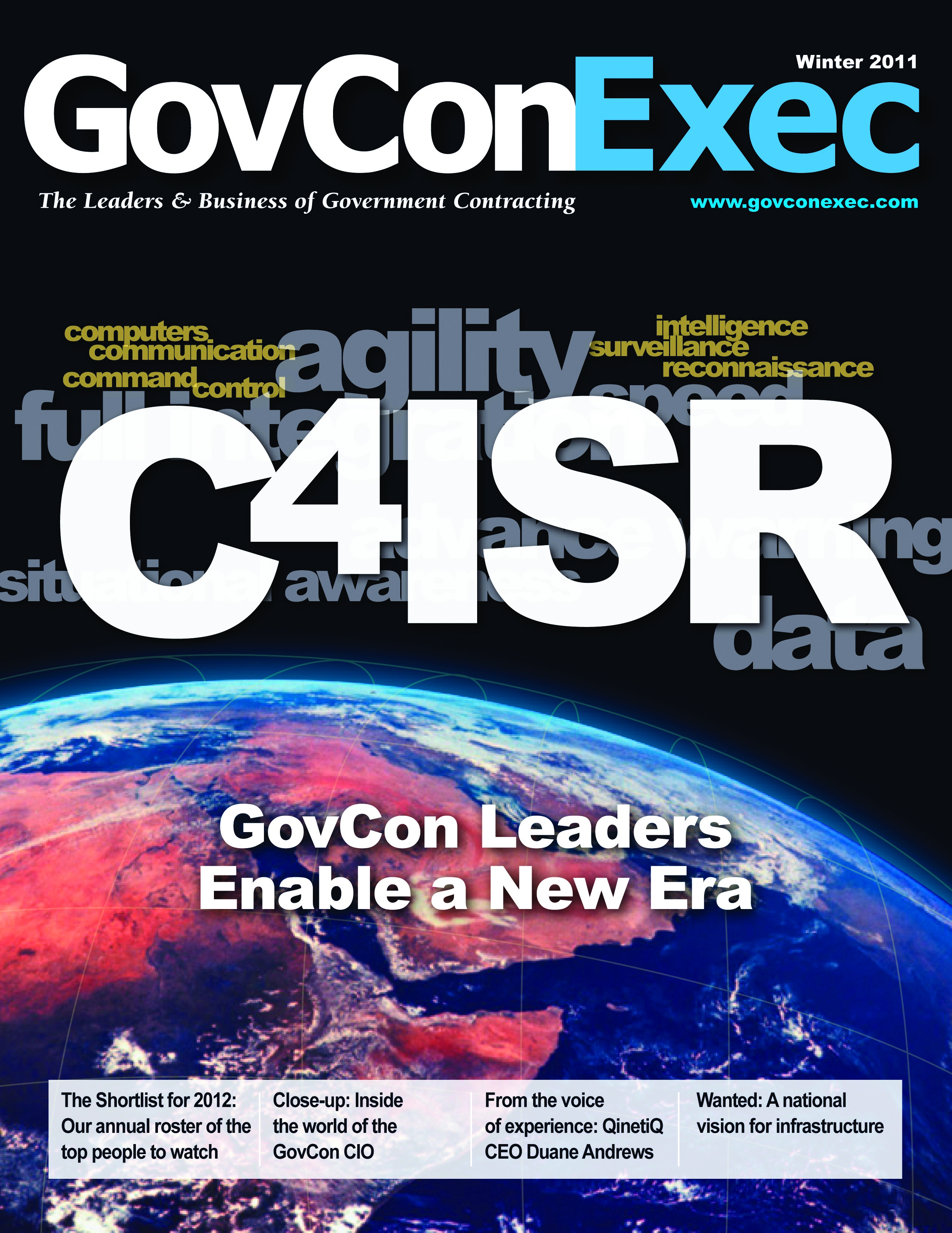 GovConExec Engages the New C4ISR in Recently Launched Winter Issue - top government contractors - best government contracting event