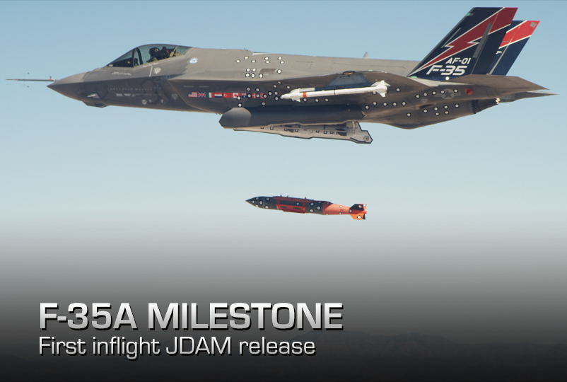 Air Force Completes First F 35 In Flight Release Of Jdam