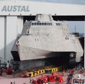 General Dynamics, Austal Launch Third Littoral Combat Ship; Mike Tweed-Kent Comments - top government contractors - best government contracting event