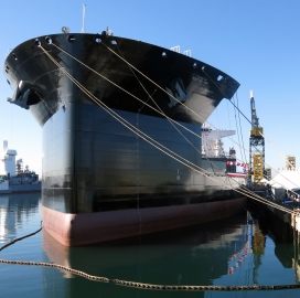 General Dynamics Unit Transports 2nd MLP Auxiliary Ship to Navy; Fred Harris Comments