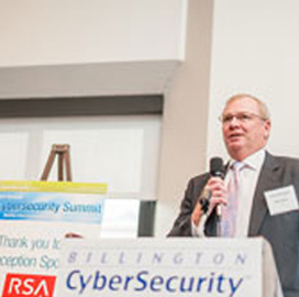 Mike Brown, RSA, speaking at conference
