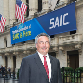 Tony Moraco in front of SAIC