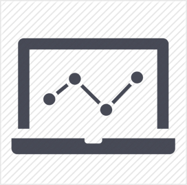 analytics data graph icon