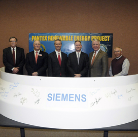 NNSA Receives Final Turbine Blades for Siemens-Built Wind Farm; Judy Marks on Gov't Energy Goals - top government contractors - best government contracting event