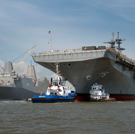 Huntington Ingalls Division Unveils Navy's 2nd America-Class Amphibious Assault Ship - top government contractors - best government contracting event