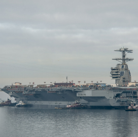 Sabre Helps Navy Conduct Arrested Aircraft Landing, Electromagnetic Launch Aboard USS Gerald Ford - top government contractors - best government contracting event