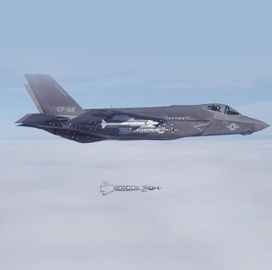 F-35 Fulfills External Weapons Separation Test - top government contractors - best government contracting event