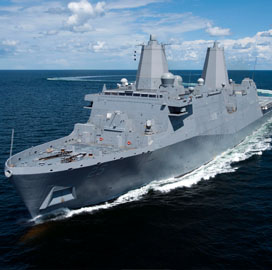 Huntington Ingalls Gets Navy Contract Funds for Amphibious Transport Dock Engineering Work - top government contractors - best government contracting event
