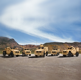 Oshkosh Defense Unveils Five M-ATV Variants to Support Varying Mission Requirements - top government contractors - best government contracting event