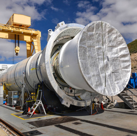 NASA to Assess 2nd Ground Qualification Test for SLS Rocket Booster Via Teleconference - top government contractors - best government contracting event