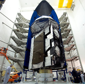 Lockheed Completes Encapsulation Work on Navy MUOS-5 Satellite; Mark Woempner Comments - top government contractors - best government contracting event