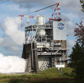 Aerojet Rocketdyne Tests SLS Engine at NASA Stennis Space Center - top government contractors - best government contracting event