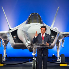 Lockheed Unveils Initial F-35A for Japan Air Self Defense Force; Marillyn Hewson Comments - top government contractors - best government contracting event