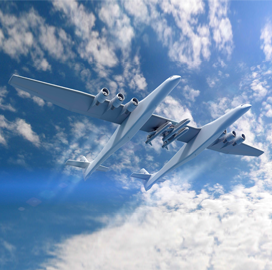 Report: Stratolaunch Aircraft Could Perform Initial Flight by Summer 2018 - top government contractors - best government contracting event