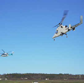 Lockheed Performs Collaborative Demo Between Optionally-Piloted Helicopters and Small UAS - top government contractors - best government contracting event