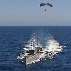DARPA Transfers Unmanned Anti-Submarine Vessel Prototype to Navy - top government contractors - best government contracting event