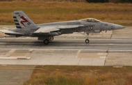 General Atomics Conducts Super Hornet Fly-In Recovery With Arresting Gear System