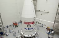 Lockheed Finishes Encapsulation Work on EchoStar XIX Broadband Satellite