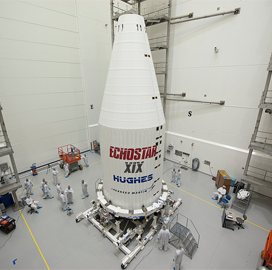 Lockheed Finishes Encapsulation Work on EchoStar XIX Broadband Satellite - top government contractors - best government contracting event