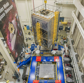 NASA, Industry Partners Resume Vibration Tests on James Webb Space Telescope - top government contractors - best government contracting event