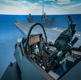 BAE Updates Flight Simulator for F-35 Pilots; Peter Wilson Comments - top government contractors - best government contracting event