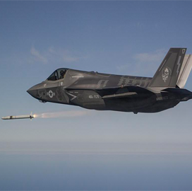 F-35 Jet Fires MBDA-Built Missile in Flight Test - top government contractors - best government contracting event