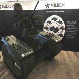 Kongsberg-Milrem-QinetiQ NA Alliance Develops Robotic Fire Support & Force Protection System - top government contractors - best government contracting event