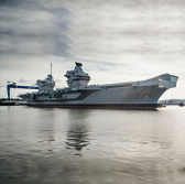 UK Navy Commissions HMS Queen Elizabeth Aircraft Carrier - top government contractors - best government contracting event