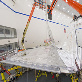 Northrop Integrates Webb Space Telescope Sunshield Layers - top government contractors - best government contracting event