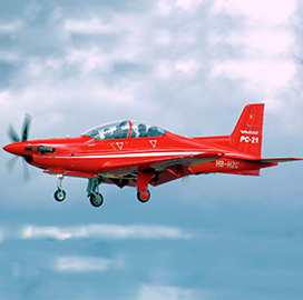 CAE Taps Rockwell Collins to Build Visual Display System for French Air Force's PC-21 Simulators - top government contractors - best government contracting event