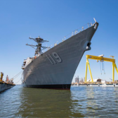 Navy to Hold USS Delbert D. Black Destroyer Christening at HII Shipyard - top government contractors - best government contracting event