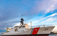Huntington Ingalls Holds Christening of Coast Guard National Security Cutter Midgett