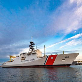 Huntington Ingalls Holds Christening of Coast Guard National Security Cutter Midgett - top government contractors - best government contracting event