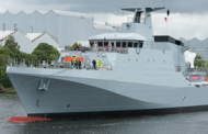 BAE Turns Over Patrol Vessel to UK MoD