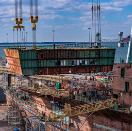 Huntington Ingalls Shipbuilder Nears Completion of Future JFK Aircraft Carrier - top government contractors - best government contracting event