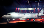 Saab Flies New GlobalEye Aircraft From Linkoping Airfield