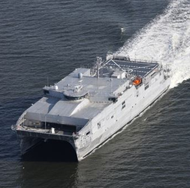 Austal USA Hosts Christening of Navy's 10th Expeditionary Fast Transport Ship - top government contractors - best government contracting event