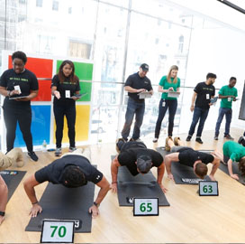 Microsoft Hosts 'Pushups for Charity' for Military Veteran Support Awareness; Wes Anderson Comments - top government contractors - best government contracting event