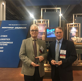 AOC Inducts Northrop's Michael Panopoulos, James Van Kirk Into Electronic Warfare Tech Hall of Fame - top government contractors - best government contracting event