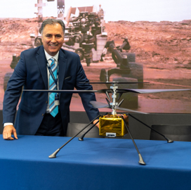 AeroVironment, NASA JPL Team Up on Mars Helicopter Development Project - top government contractors - best government contracting event