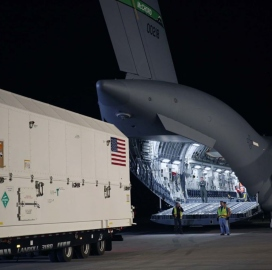 Lockheed Delivers First GPS III Satellite for Air Force Use to Cape Canaveral - top government contractors - best government contracting event