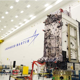 """Lockheed's Second GPS III Satellite Receives USAF """"˜Available for Launch' Status - top government contractors - best government contracting event"""