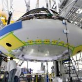 Lockheed, NASA Install Orion Spacecraft Heat Shield - top government contractors - best government contracting event