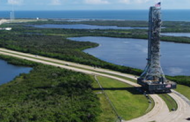 Jacobs Moves NASA's EM-1 Mobile Launcher to Launch Pad at Kennedy Space Center