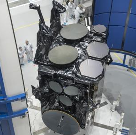 Lockheed Completes AEHF-4 Comms Satellite Encapsulation; Mike Cacheiro Quoted - top government contractors - best government contracting event