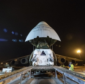 ExecutiveBiz - NASA Receives Airbus-Built Service Module for Orion EM-1 Spacecraft