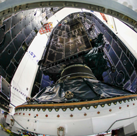 Lockheed Encapsulates Air Force's First GPS III Satellite - top government contractors - best government contracting event